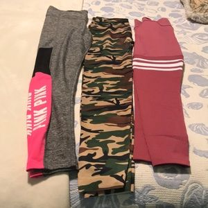 BOMBSHELL VICTORIA'S SECRET and Camo Workout Pants